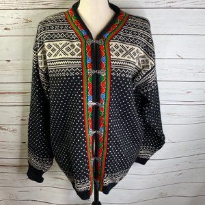 DALE OF NORWAY Setesdal Fair Isle Sweater XL